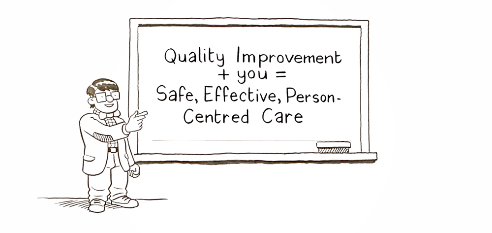Quality Improvement + you = Safe, Effective, Person-Centred Care