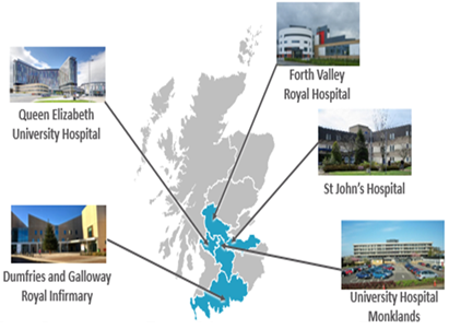 Sites involved in phase 1 of Frailty at the Front Door: