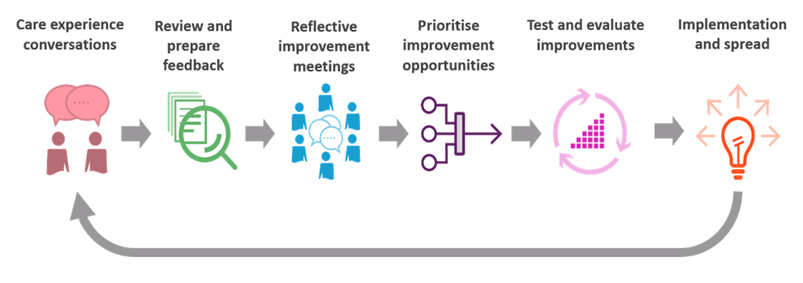 Image showing the Care Experience Improvement Model